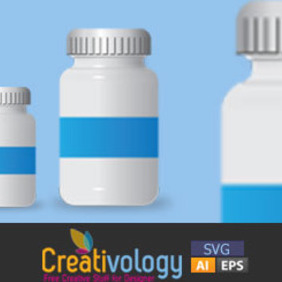 Free Vector Pill Bottle - vector gratuit #208903