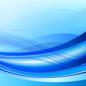 Waves Blue Background - Free vector #209063