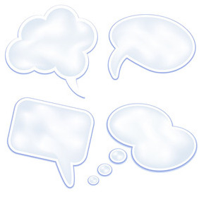 Stylish Speech Bubbles - vector gratuit #209083