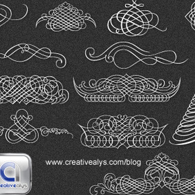 Calligraphic Ornaments - Free vector #209103