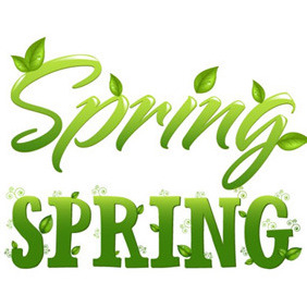 Spring Text - vector #209153 gratis