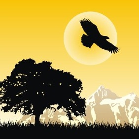 Eagle At Dawn - vector gratuit(e) #209173