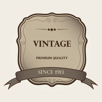 Vintage Label - vector #209373 gratis