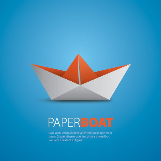 Paper Boat - Free vector #209533