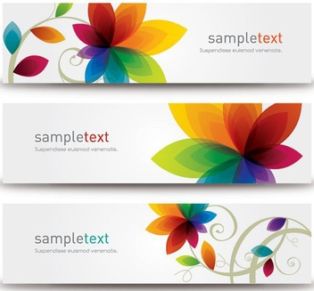 Flower Banners - Kostenloses vector #209583