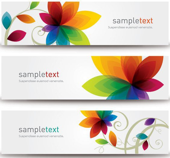 Blume-Banner - Free vector #209583