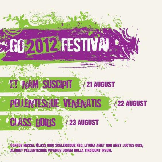 Плакат фестиваля - бесплатный vector #209593