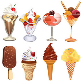 Various Ice Cream - Kostenloses vector #209613