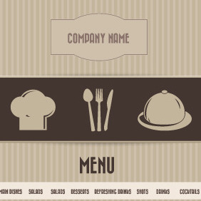 Vector Restaurant Menu - Free vector #209633