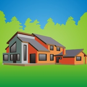 Country House - Free vector #209693