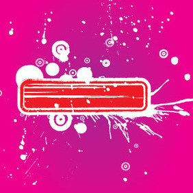 Red Grunge Banner In Pink Background - Free vector #209753