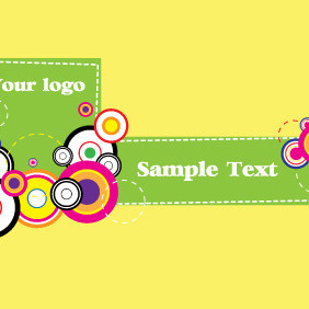 Colorful Retro Circles - vector gratuit #209833