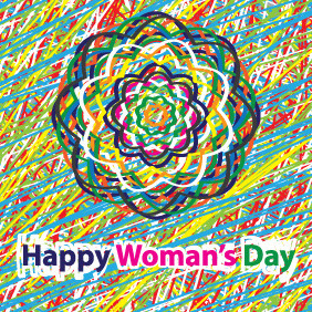 Happy Woman's Day Card - vector gratuit #209893