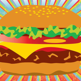 Hamburger - vector gratuit #210293