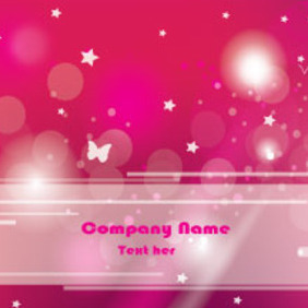 Pink Company Card Free Vector Graphic - Free vector #210423