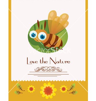 Free cartoon bee document template vector - Free vector #210433