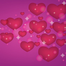 Love Hearts Background - Free vector #210523