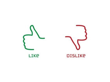 Like Dislike Buttons - vector gratuit #210673