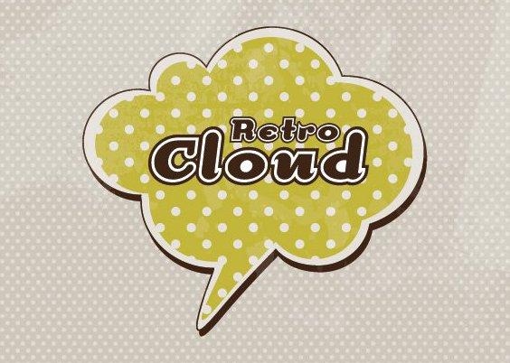 Retro-Cloud-Hintergrund - Kostenloses vector #210803