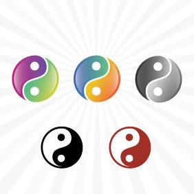Yin Yang Vector - Kostenloses vector #211003