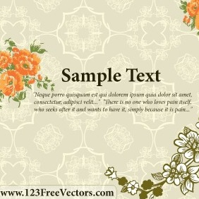 Flower Wedding Invitation Card - vector #211363 gratis