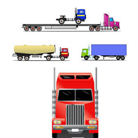 TRUKS & TRAILERS Free VECTOR GRAPHICS - vector #211373 gratis