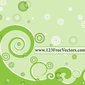 Green Swirl Background Vector - vector gratuit #211563