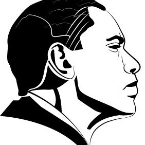 Barack Obama Vector Portrait VP - Free vector #211593