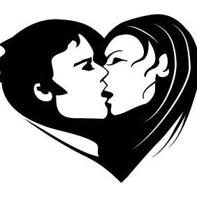 Kiss Vector Image - Free vector #211603