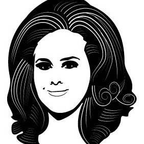 Adele Vector Portrait - Free vector #211903