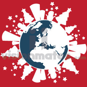 Winter Spirit Planet Earth - Free vector #212213