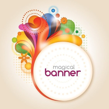 Magical Banner - Free vector #212223