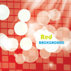 Bokhaa Lumined Red Abstract Vector - Kostenloses vector #212273