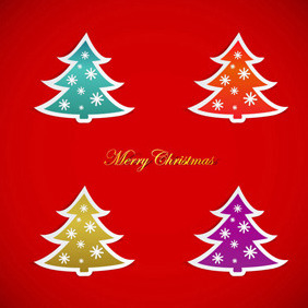 Christmas Tree Vector Graphics - Kostenloses vector #212333