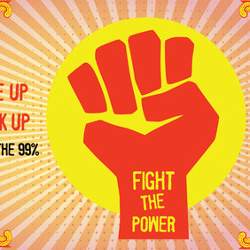 Fight The Power - vector #212343 gratis