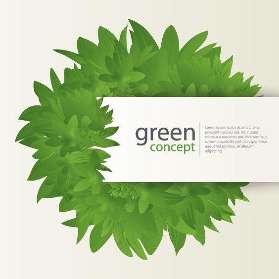 Зеленый концепция - бесплатный vector #212363