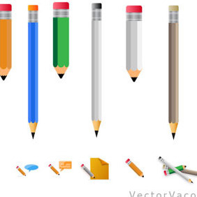 Vector Pencils - vector gratuit #212483