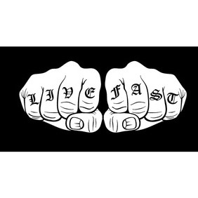 Knuckle Tattoo Vector - Free vector #212523