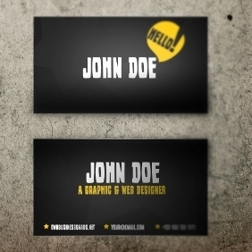 Yellow&Black Business Card Template - vector gratuit(e) #212613