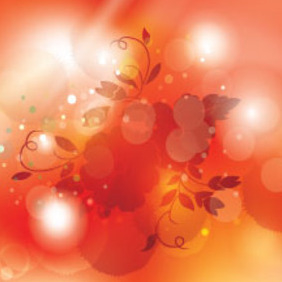 Flowers In Shinning Orange Vector Design - vector gratuit #212813