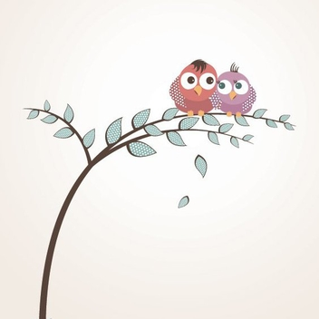 Lovely Birds - vector gratuit #212843