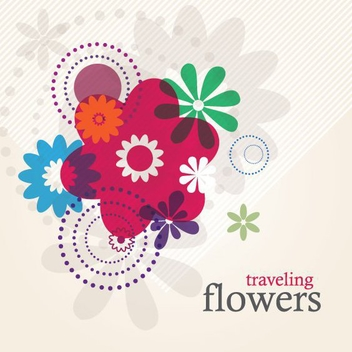 Traveling Flowers - vector gratuit #212933