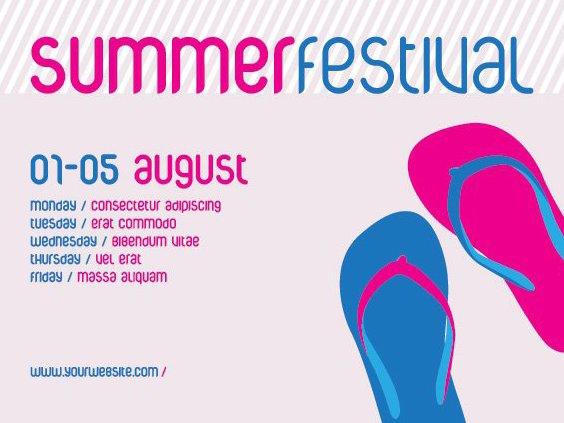 Affiche du Festival d'été - vector gratuit(e) #212963