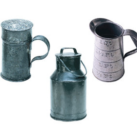 Vector Of Old Metal Cups - vector #213203 gratis