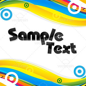 Abstract Colorful Card - Kostenloses vector #213263