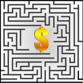 Dollar Maze - Free vector #213283