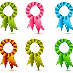 Ribbons Awards - бесплатный vector #213303