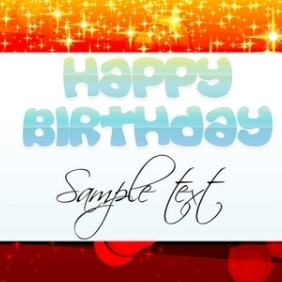 Abstract Birthday Card - vector #213353 gratis