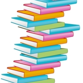 Pile Of Books - vector gratuit #213363