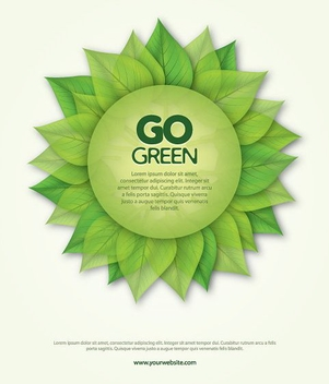 Go Green Poster - Free vector #213383